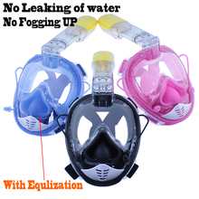 2018 Diving mask Swimming training Scuba Snorkeling mask Anti Fog Full Face Respiratory masks 100% waterproof Improved version(China)