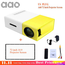 Original AAO YG300 LED Portable Projector 500LM 3.5mm 320x240 Pixel HDMI USB Mini YG-300 Projector Home Media Player(China)