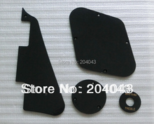 Sell Free Shipping set of black 1ply lp guitar pickguard lp guitar back cover plate and lp guitar switch disk(China)