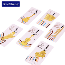 10 PCS Cute Gold Metal Bookmark Fashion Music Piano Guitar Bookmark for Book Creative Gift Korean Stationery(China)