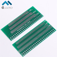 5pcs 46-Pin 0.8mm 0.9mm 1.0mm 1.1mm 1.2mm 1.3mm Pin Space Adapter Board PCB Plate Pinboard Electronic Components Training 46PIN