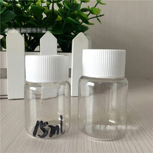 10PCS Plastic Cosmetic Jars Clear Skin Care Cream Container for Capasule Pill Sample Packing Bottles 15ML(China)