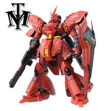 Anime Mobile Mobile Suit Daban MSN-04 SAZABI Gundam LED light MG 1/100 model Robot Puzzle kids toy assembled action figures gift