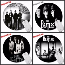 New Arrival Hot Sale Me Pad The Beatles Band Music Mouse Pad ame Mousepad Desktop Pads Soft Silone Round Mouse Mat 200*200*2mm