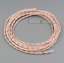 1m 16wires 7*0.1 Silver Plated OCC Mixed Headphone Earphone DIY Custom Cable LN005277(China)
