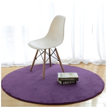 Home Supplies 5 Size Coral Fleece Soft Round Carpet Non-Slip Water Drawing Floor Rug Chair Yoga Mat For Bedroom Living Room