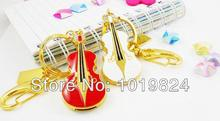 100% real capacity hot fational USB Flash Drive newest creative jewel violin USB flash dive girl gift USB drives 2GB S51(China)