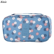 Women Waterproof Travel Storage Bag Underwear Bra Sorting Organizer Bags Female Makeup Case Cosmetic Storage Beauty Pouch bag(China)