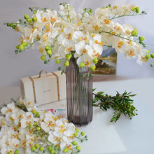 Vivid and natural artificial silk  moth orchid flower decorative  Orchid for new House Home Wedding party Decoration 5pcs