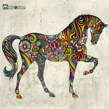 Personalized Design Decorative Wall Decal Colorful Horse Wall Stickers For Kids Rooms Decoration