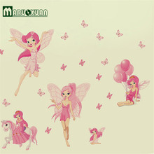Hot Style Popular Foreign Trade Wall Stickers Elven Fairy Of Children Room Decorate Wall Stick Pvc Transparent Wall
