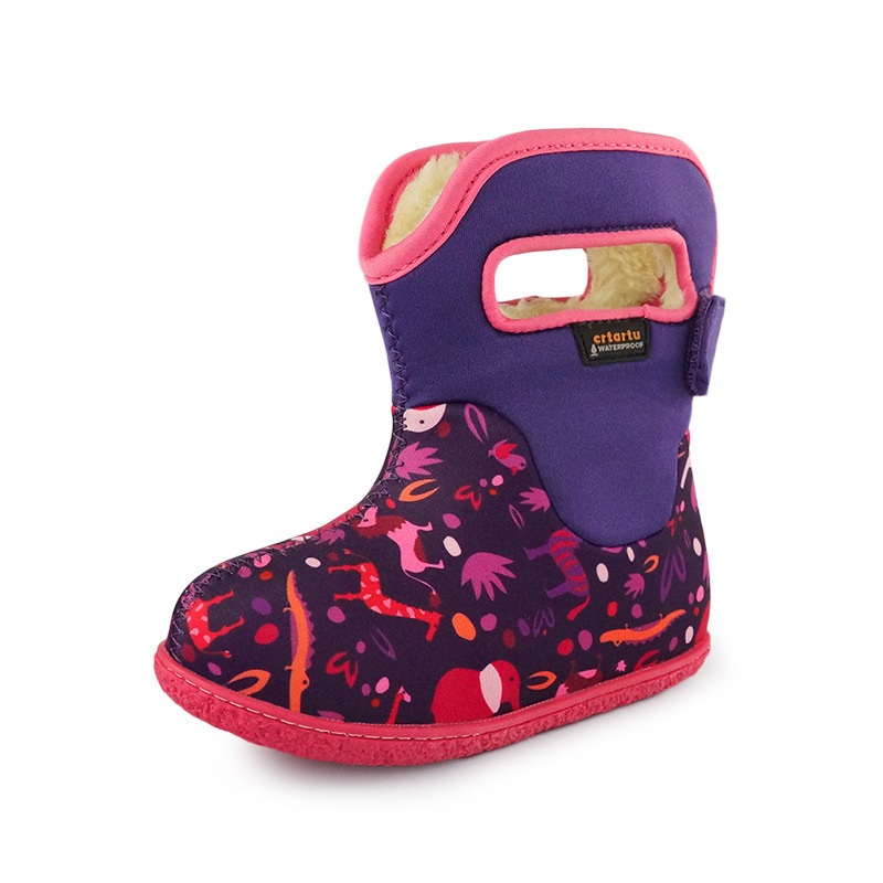 Toddler Kids Winter Boots Girls Outdoor Warm Boys Snow Boots Waterproof 2017 Soft Bottom Cotton Infant Baby Girl Winter Shoes<br>