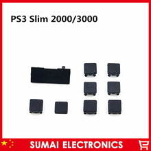50Set 9 in 1 Full set Dustproof Plug Screw Holes Cover Rubber Feet Cover Set For PlayStation 3 PS3 Slim Console(China)