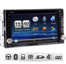 "universal 2 two Din 6.2"" In Dash Car DVD player GPS, audio Radio stereo,FM,USB/SD,Bluetooth/TV,HD digital touch screen"