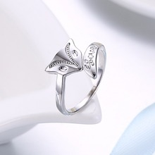 2017 Minx Sexy 925 stamped silver plated Fox Ring Opening Women Jewelry Lover Adjustable Pattern Design girl gift bague femme