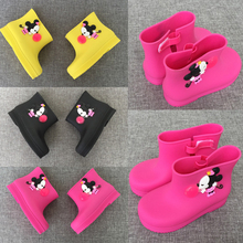 14-18cm kids girls rain Boot kids shoes Bow candy smell baby toddler adorable girls fashion boots non slip water shoes Sapato