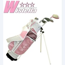 Complete Golf Club Sets Junior Golf Club Set with stand Bag for Kids Graphite Shaft Junior Golf Clubs for girls(China)