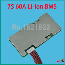 7S 60A Li-ion 24v Diy circuit board with balance bms pcm for electric bike vehicles