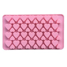 Free shipping 56 hearts Chocolate Cup cooking tools fondant DIY silicone moulds baking decoration candy Resin craft(China)