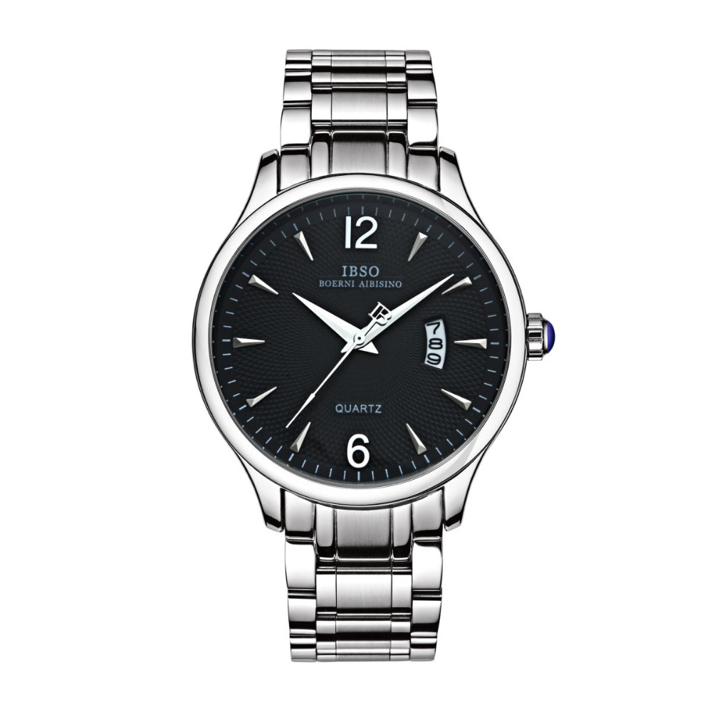 IBSO Best Quality Dress Wastches with Big Calendar Stainless Steel Watch for Men 3939<br>