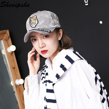 Shevipshe Dad Hat Tiger Embroidery Baseball Cap Snapback Cotton Embroidery Snapback Anime Cap Men Hip Hop Fitted Hats Women(China)