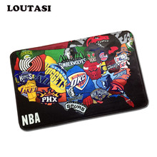 40*60cm Custom NBA Team Logo Doormat Los Angeles Lakers Door Mat Basketball Bathroom Carpet Lakers Floor Cushion Kids Bedroom
