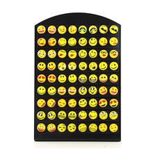 New Design 36 Pairs Emoji Funny Happy Face Stud Earring for Women Girls Trendy Ear Jewelry Gifts(China)
