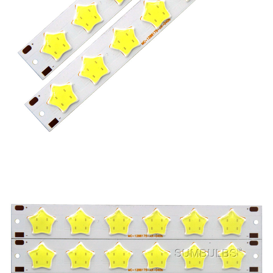 Special Shape COB LED Light Strip DC 12V 5W 6W Cold White LED Bulb with Star Grid Arrow Shape DIY Work Home Car Decor Lighting (2)