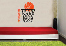 Cool Custom made Benjamin Basketball Wall Decal Personalized Room Wall Art Custom Name Vinyl-you choose name and color