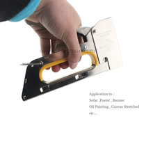 Free Shipping Stretch Tool Staple Gun For Stretched Canvas Painting Stainless Steel Manual Nail Gun For DIY Stretch Oil Painting(China)