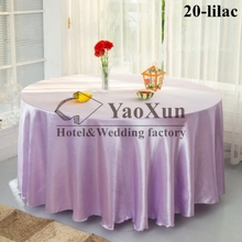 LILAC Color Satin Round Table Cloth \ Good Looking Tablecloth For Hotel Wedding