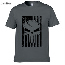 American Sniper Chris Kyle Men T Shirt Punisher Skull Navy Seal Team Legend Printed Fashion Tops Tees Summer Casual Tshirt
