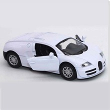 1:32 Bugatti Veyron Diecast Car Model Alloy Toy Car Model Electronic Light Sounds Pull Back Cars Model Kids Boy Gift Collection
