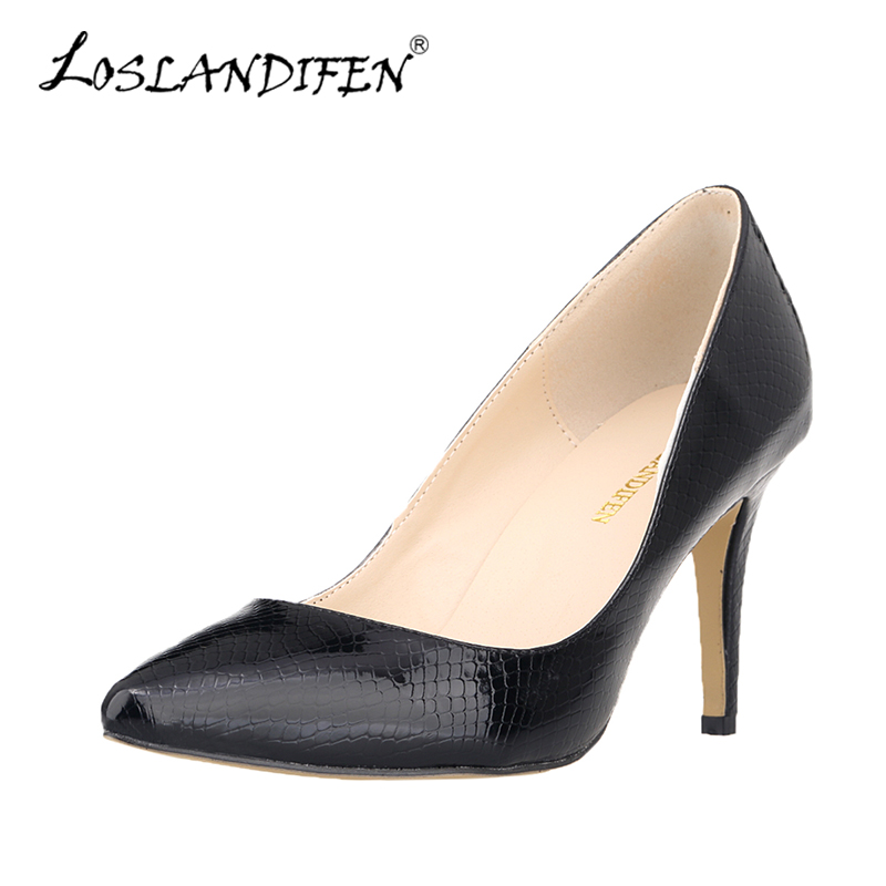 Ladies Shoes Women Pumps New Solid Tip High Heels Shoes Woman High Heels Zapatos Mujer Office Medium Heel Shoes 952-1XEY<br><br>Aliexpress