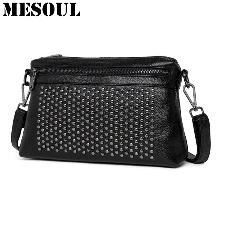 Women Small Bag Real Leather Shoulder Bag Women Designer Handbags High Quality Crossbody bags Bolsas Fashion Rivet Evening Bags <br>