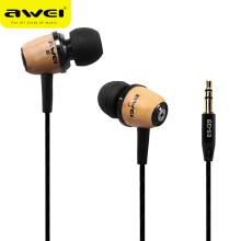 Original Awei Q9 Super Bass Wooden in Ear Earphones Headset For Phone,Computer,MP3 MP4 Go pro Earbuds 3.5mm Jack Earphone