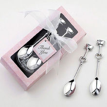 Heart Shaped Love coffee tea measuring Spoon Wedding lover gift stainless steel dinner tableware sets wholesale retail(China)