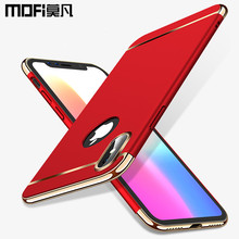 case for iPhone x case cover MOFi original hard back joint capas for iPhone x cover red black luxury for iPhonex iphone x case(China)