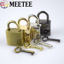 2Set New Hot Square Padlocks Mini Decorative Pad Locks Suitcase Luggage Bags Pad Lock Lovers Gifts Suitcase Decorations(China)