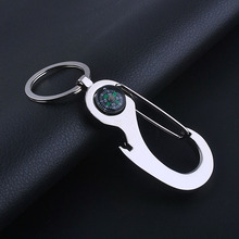 The New Compass Keychain Metal Buckles Compass Opener Keychain Advertising Gift logo(China)