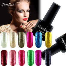 3D Shining Glitter Platinum UV LED Gel lucky color Lacquer Paint Fingernails Gel Nail Polish Primer Top Base Gel Varnish
