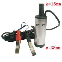 High quality! 12V DC 38mm Diesel Fuel Water Oil Car Camping Fishing Submersible Transfer Pump(China)