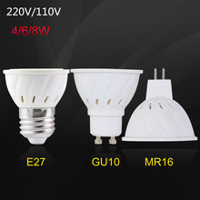 MR16 LED Light Bulb GU5.3 4W 6W 8W 220V 110V 2835 SMD GU 10 GU10 Led Lamp Lampada Led Spotlight Energy Saving Home Lighting(China)