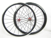 front 38mm rear 50mm carbon bike with alloy brake surface wheels clincher 700C road bicycle wheelset free painting