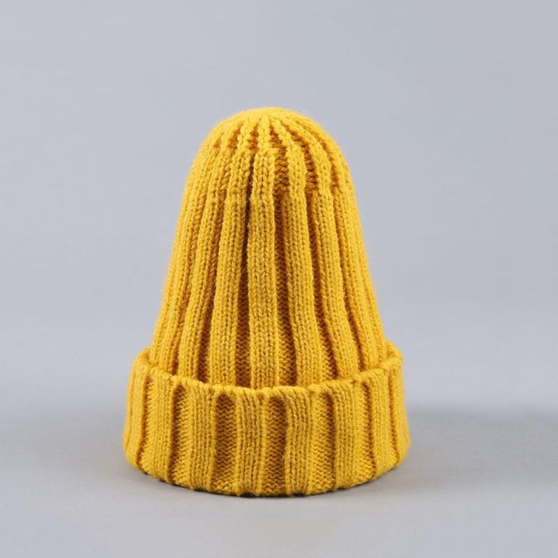 Knitted Kids Beanie Cap Infant Newborn Baby Boy Girl Hat Warm Childrenx Baby Autumn Winter Girls Hat For Kids Toddler Bonnet Cap 10
