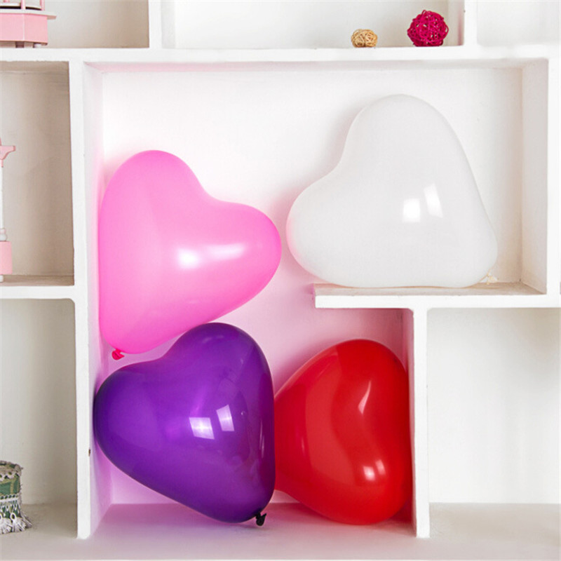 5PCs 10'' Big Heart Pure Color Wedding Birthday Party Decoration Globos Party Balloon Home Decor Event & Party Supplies