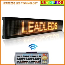 40x6.3 Inches IR Remote Control Programmable LED Scrolling Sign - Amber Message