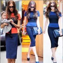 4 Colors Celebrity Fashion Dress Short Sleeve Sexy Patchwork Bodycon Dress HL Bandage Dress