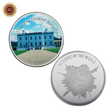 WR Quality 999.9 Silver Plated Coin Queen's House Silver Coin United Kingdom Challenge Coin Metal Art Crafts for Home Decor(China)