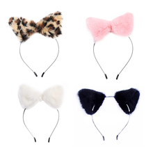 2017 fashion women girl Hair Accessories Girl Cute Cat Fox Ear Long Fur Hair Headband Anime Cosplay Party Costume